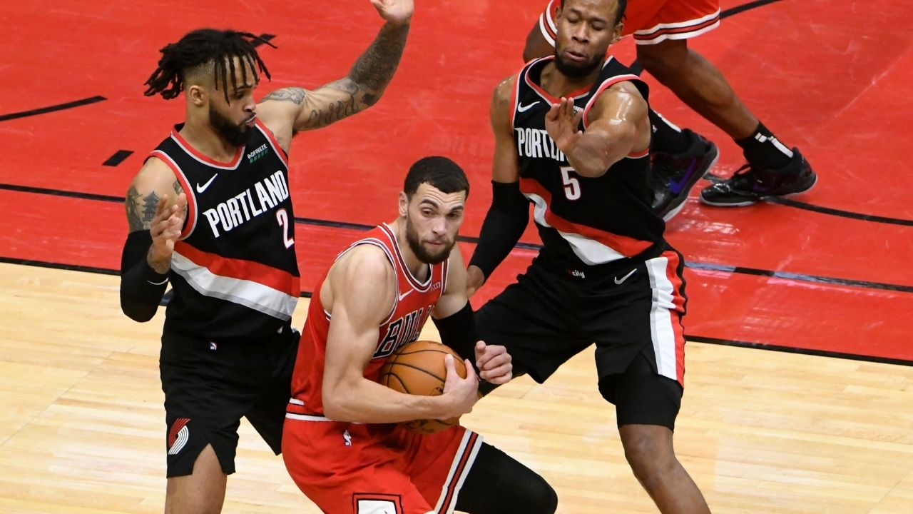 """It wasn't a jump ball"": Zach LaVine criticizes referees for the call that led to Damian Lillard knocking down a buzzer-beater"