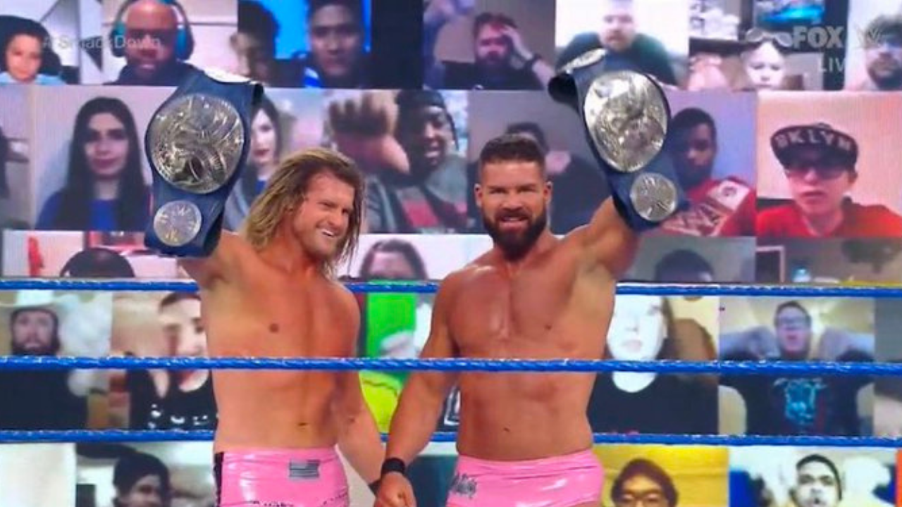 Dolph Ziggler and Robert Roode dethrone Street Profits as SmackDown Tag Team Champions
