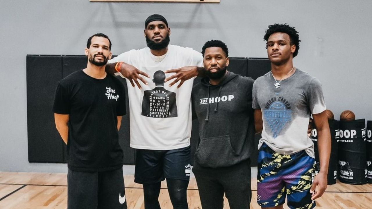 """""""Bronny James is like LeBron James with a 44 inch vertical"""": Gilbert Arenas has a glowing assessment of Lakers star's eldest son's basketball ability"""