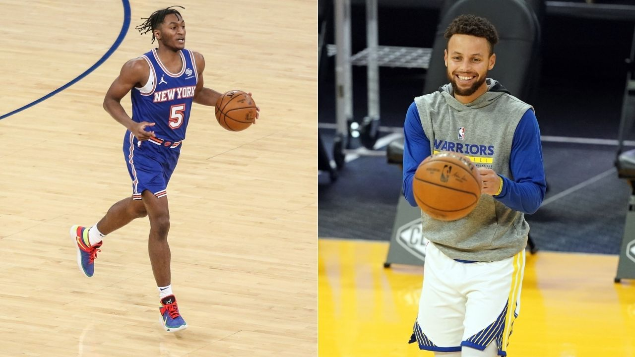 """""""Stephen Curry was one of my favorite players growing up"""": Knicks rookie Immanuel Quickley raves about Warriors star ahead of their game"""