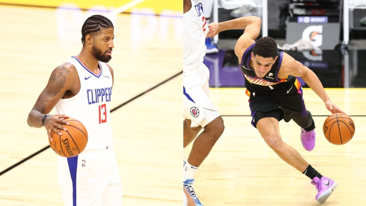 """""""Paul George is a soft-a** n***a"""": Devin Booker cusses out Clippers star following altercation in Suns loss after George gets fouled"""