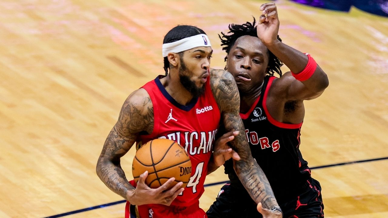 """""""It's over.....it's over"""": Pelicans' Brandon Ingram trash talked Raptors players before hitting free throw to seal the game"""