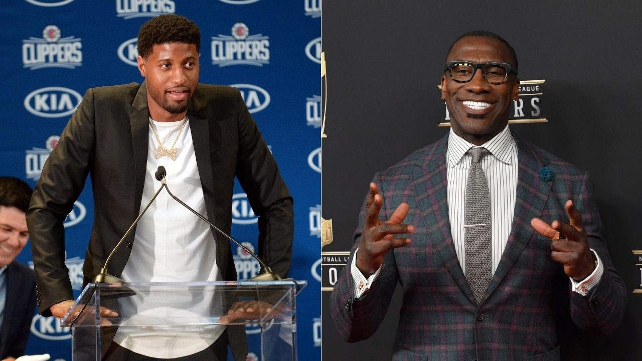 """Your Clippers teammates call you soft, not the media"": Shannon Sharpe goes off on Paul George and says he can't trust him in the Playoffs"