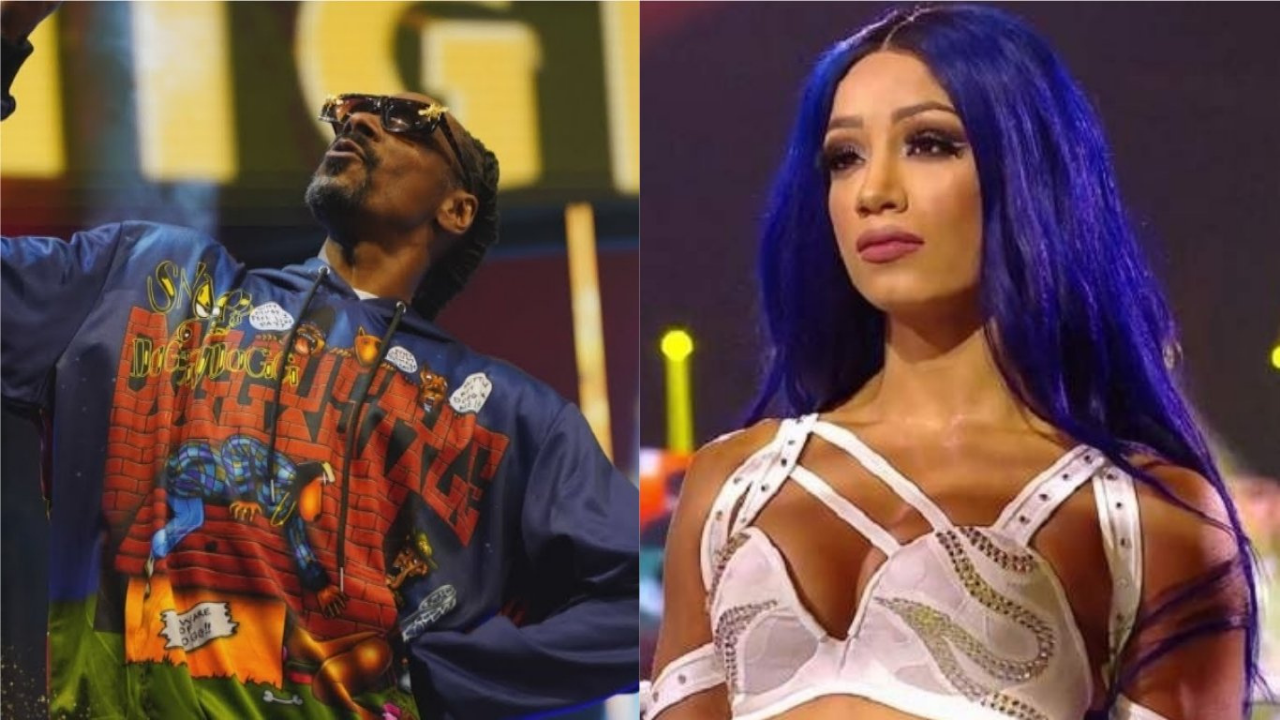 Sasha Banks reacts to cousin Snoop Dogg's AEW appearance