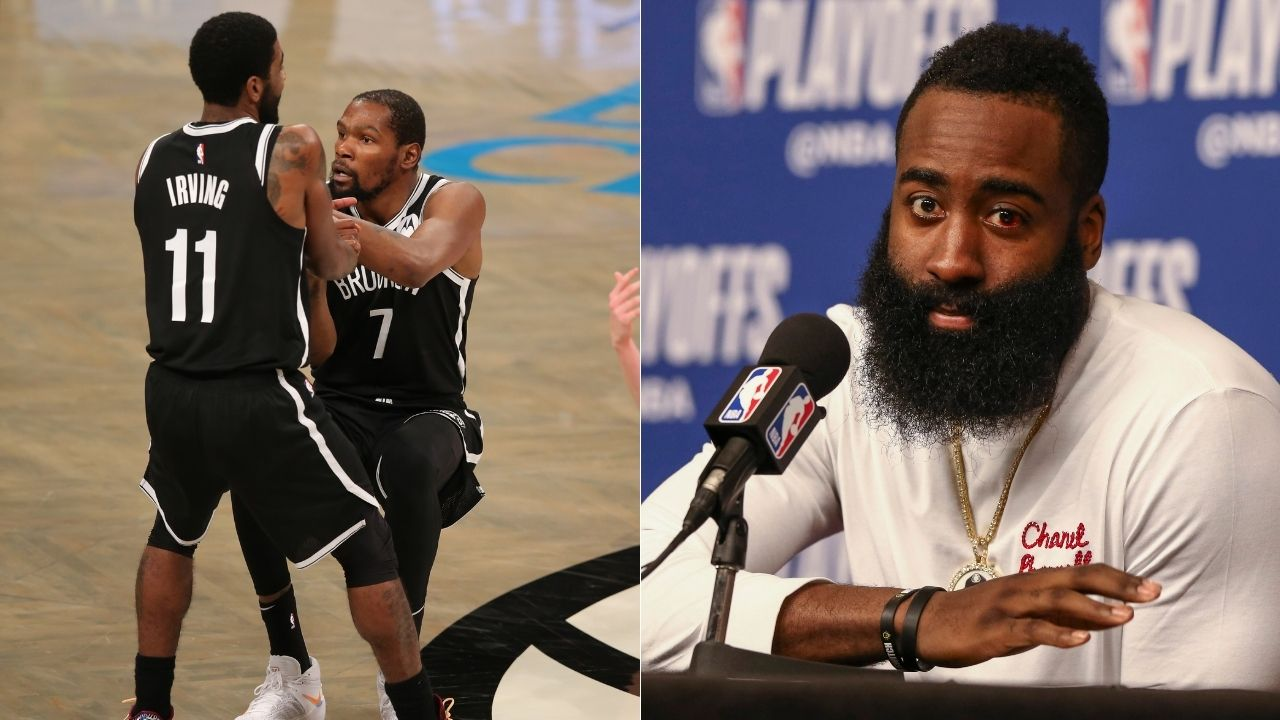 """""""James Harden is Robin to Kevin Durant's Batman"""": Kendrick Perkins calls Kyrie Irving Alfred, snubs him as second star on Brooklyn Nets"""