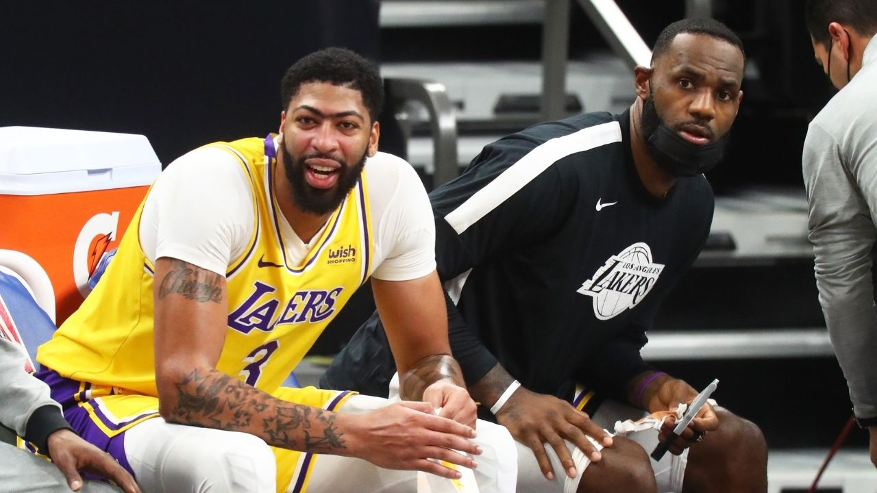"""""""LeBron James doesn't get mad"""": Anthony Davis praises Lakers star for his calm demeanor throughout his stint in Los Angeles"""
