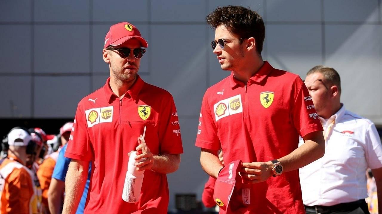 """Seb mentioned a few times""- Charles Leclerc explains why Sebastian Vettel struggled with Ferrari in 2020"
