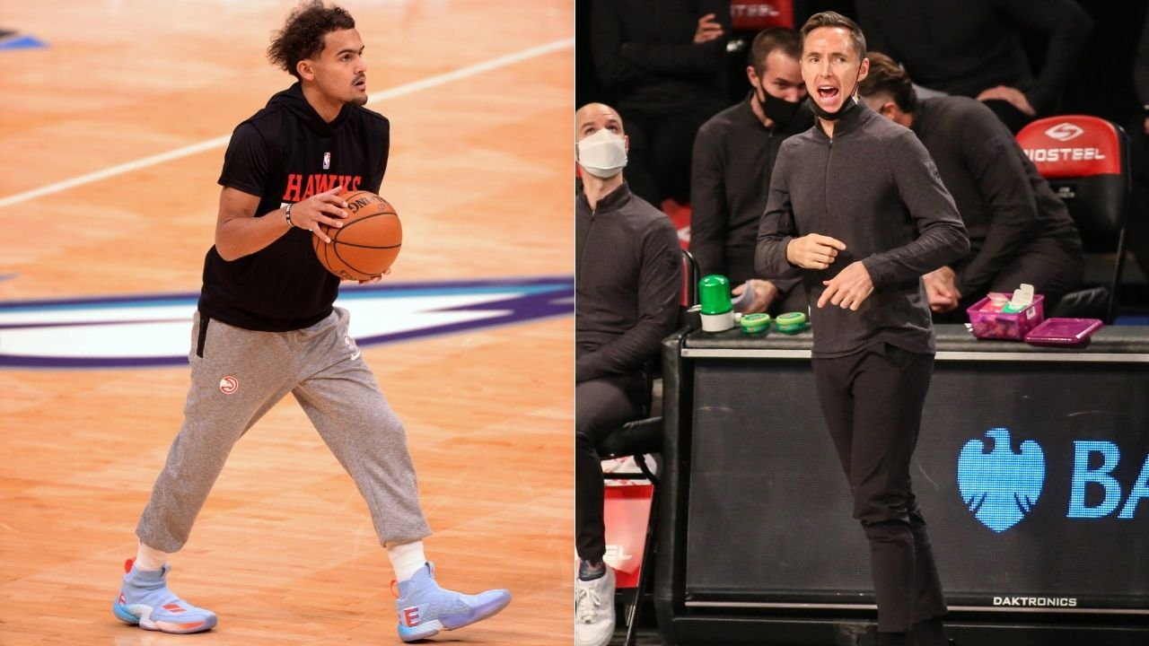 """""""Steve Nash used to back into players and draw fouls too"""": Trae Young claps back at Kyrie Irving's Nets head coach for 'that's not basketball' comment"""
