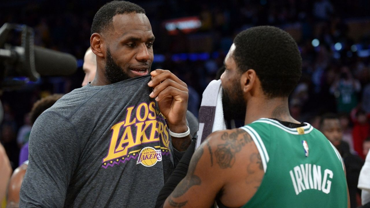 """LeBron James handled Kyrie Irving for 3 years, Kevin Durant couldn't do it for 3 weeks"": Colin Cowherd explains why Lakers star is a better leader than anyone on the Nets"