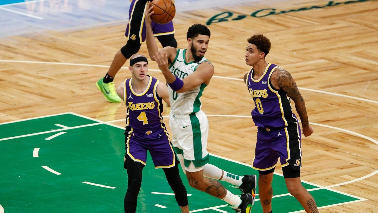 """""""Jayson Tatum gets on SportsCenter's Top 10 with this one"""": Celtics forward channels his inner LeBron James to feed Robert Williams with insane behind-the-back assist against Lakers"""