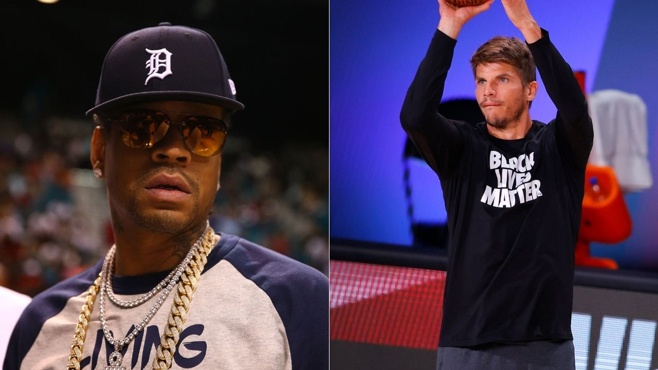 """""""I'll just shoot it myself"""": When Allen Iverson hilariously put down rookie Kyle Korver for missing 3-pointers off his passes for Sixers"""