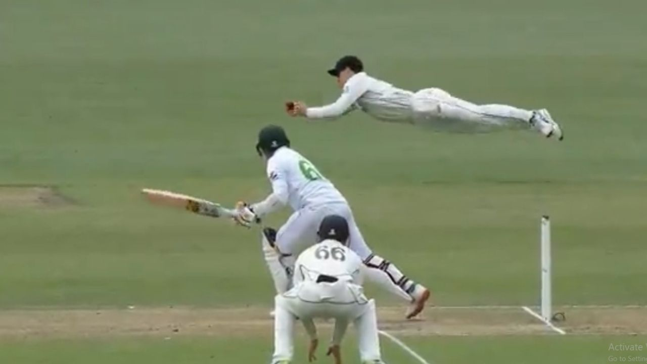 Will Young catch vs Pakistan: Watch Kiwi substitute player grabs terrific catch to dismiss Abid Ali in Christchurch Test