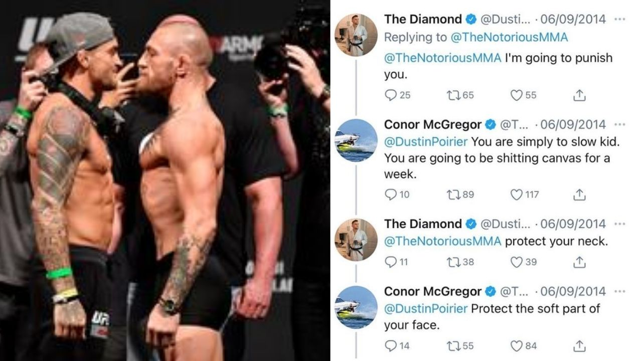 """""""I am going to punish you"""": Conor McGregor Vs. Dustin Poirier UFC 178 hateful twitter chat emerges before their UFC 257 rematch"""