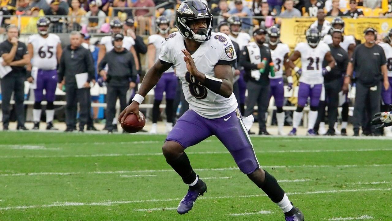 Lamar Jackson 49 Yard Touchdown : Watch Lamar Jackson Break Away For Massive 49 Yard Touchdown Run against Titans