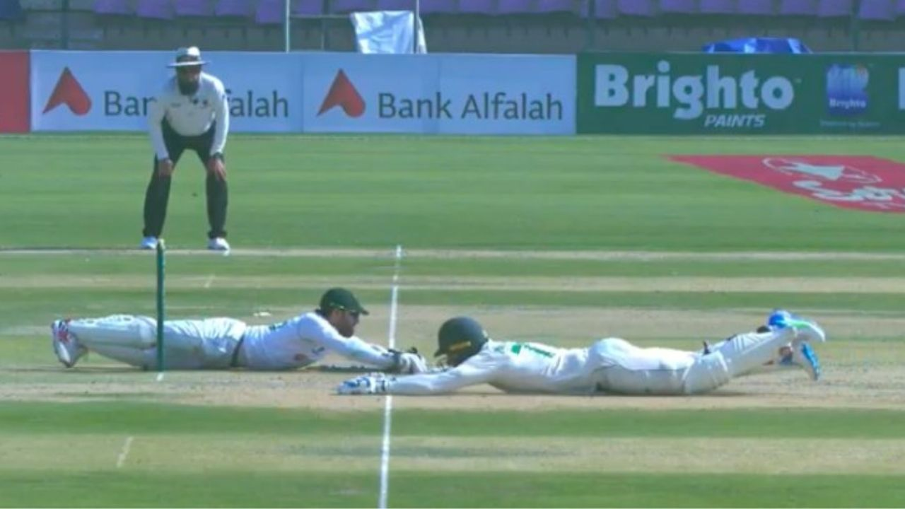 Rassie van der Dussen run-out: Watch South African batsman involved in massive mix-up with Dean Elgar in Karachi Test
