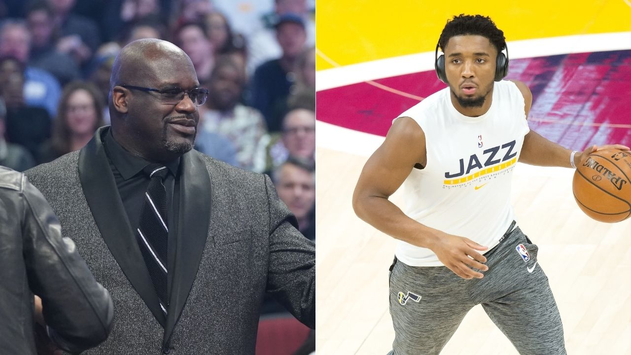 """""""Shut yo dumb a** up"""": Shaquille O'Neal furiously messages artist who photoshopped Donovan Mitchell dunking on the Lakers legend"""