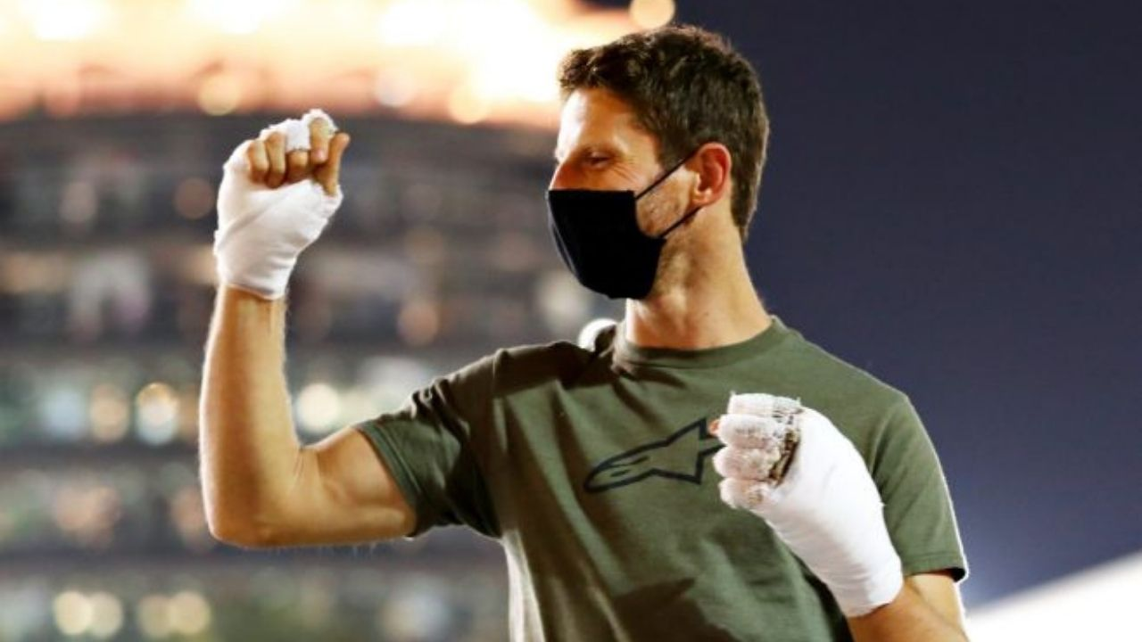 Romain Grosjean posts horrific injury scars in recovery update