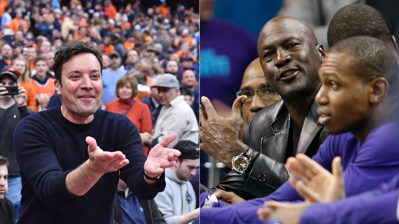 'Michael Jordan kissed me on the lips': Jimmy Fallon reveals embarrassing story about meeting Bulls legend for the first time