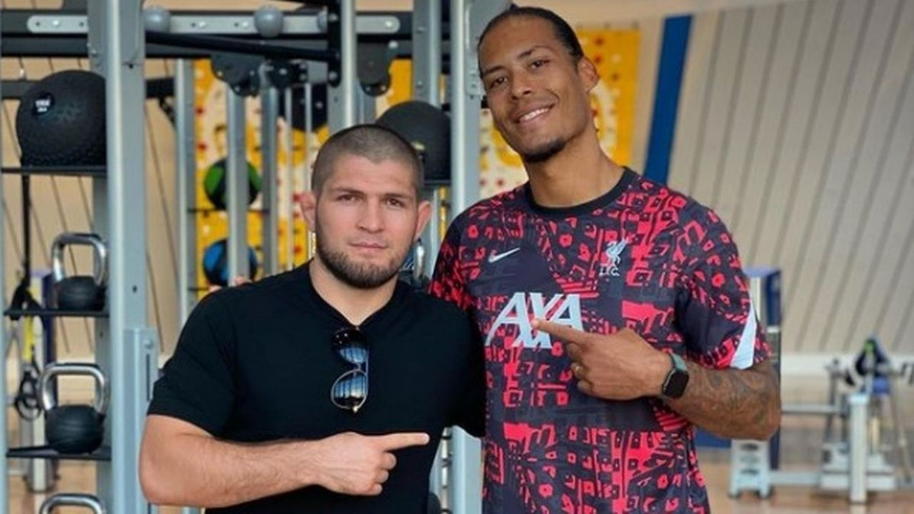 """""""I wish you get well and recovery soon"""": Khabib Nurmagomedov wishes Liverpool Centre-back Virgil Van Dijk a Speedy Recovery"""