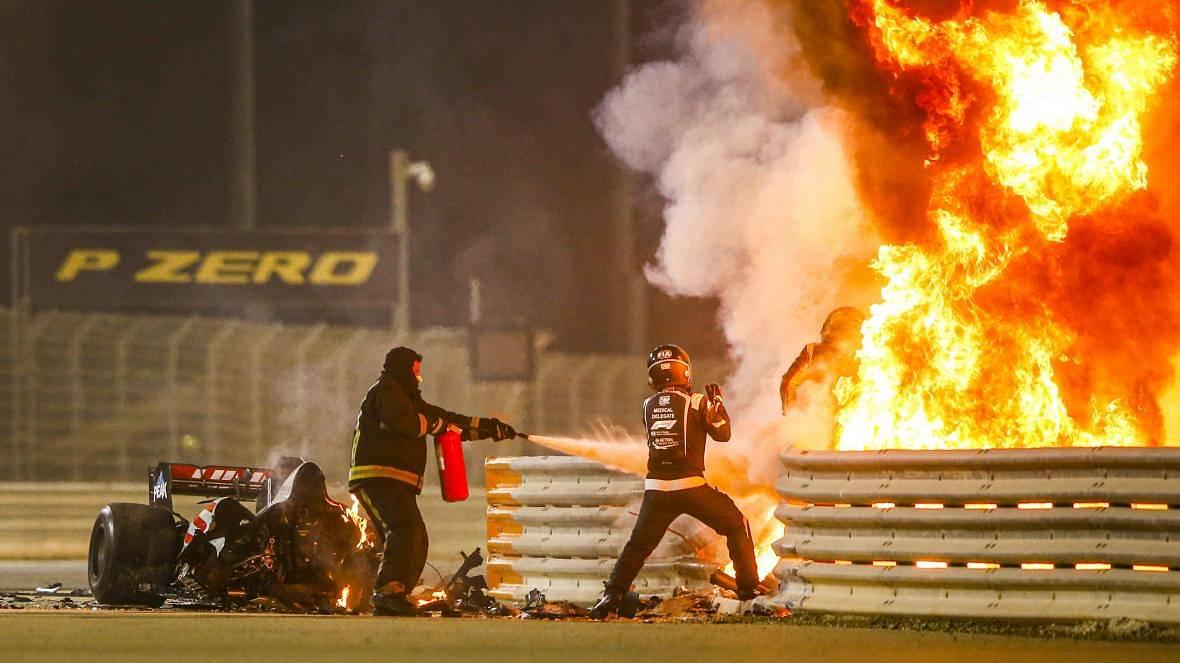 """He's walking, he's walking!"" - Romain Grosjean crash at Bahrain was a massive concern for the Haas race engineers"