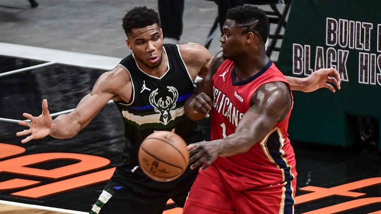 'I can sell Zion Williamson's jersey for a high price': Giannis Antetokounmpo hilariously states what he'll do with the Pelicans All-Star's jersey