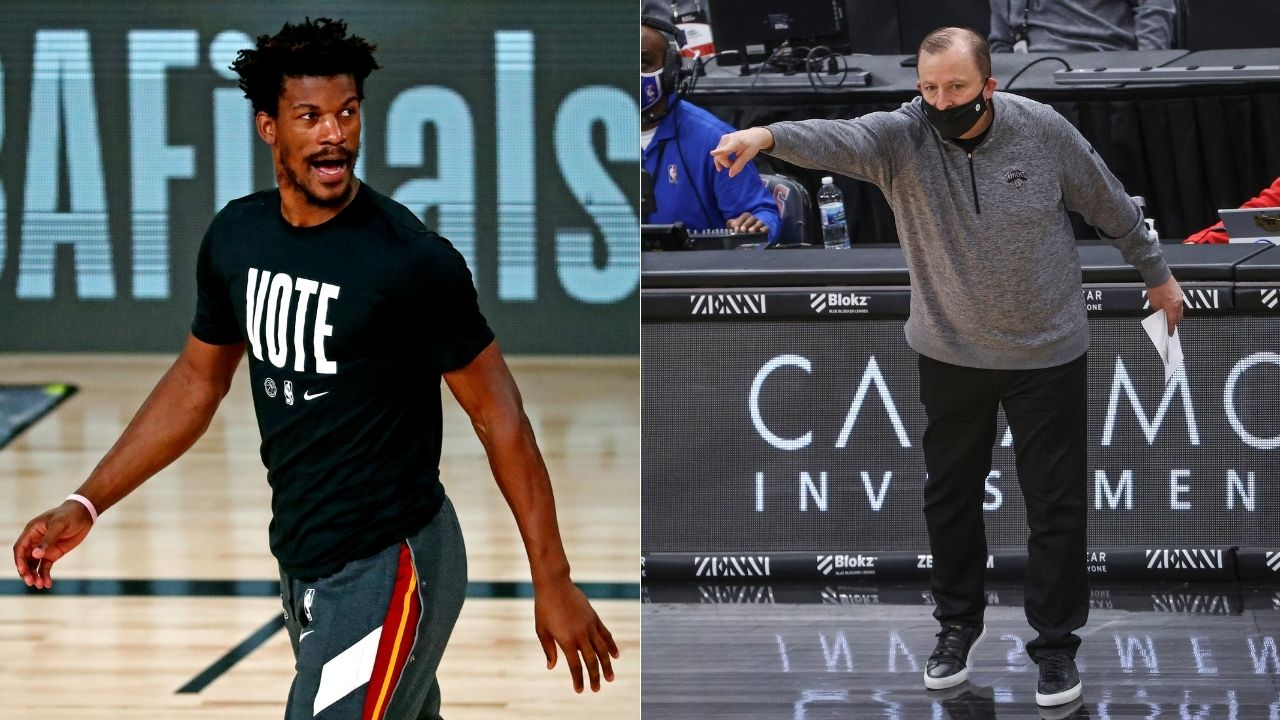 """""""We didn't see Jimmy Butler as a superstar"""": Former Chicago Bulls head coach Tom Thibodeau says they didn't view the Heat star as a franchise piece"""
