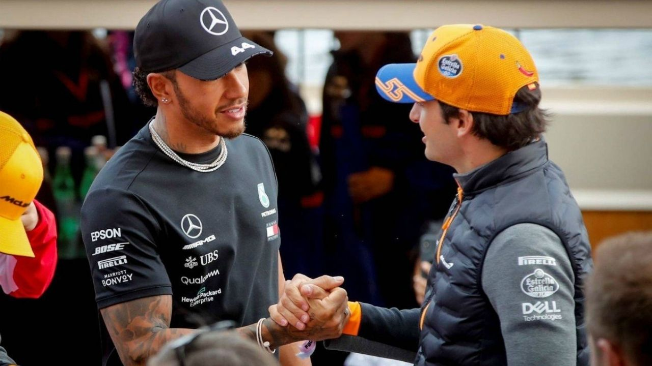 """""""Lewis is the best driver""""- Carlos Sainz bothered by Mercedes hiding Lewis Hamilton's virtuosity"""