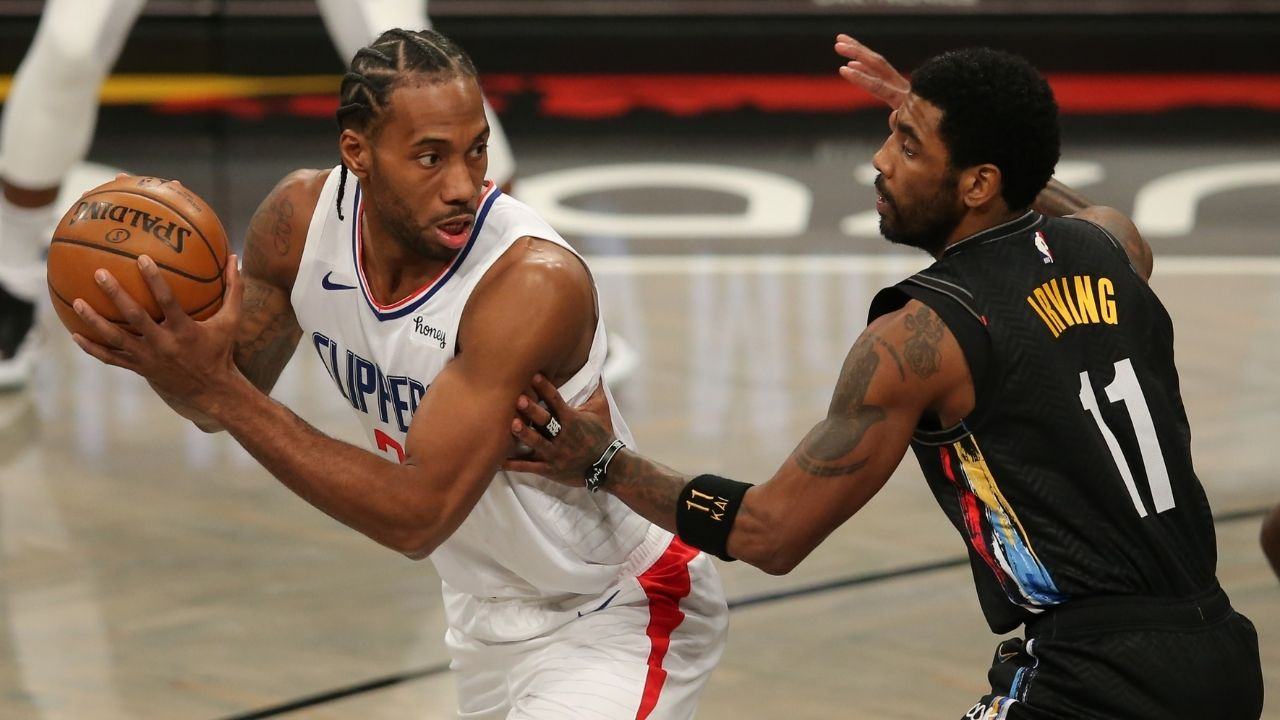 """""""Kawhi Leonard just won't go through with the routine"""": Clippers superstar continues his cyborg-like behaviour, only daps up teammate"""