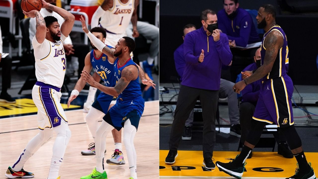 """""""Anthony Davis needs to get back to being himself"""": LeBron James advises Lakers teammate to take it easy after aggravating Achilles injury in loss to Nikola Jokic's Nuggets"""