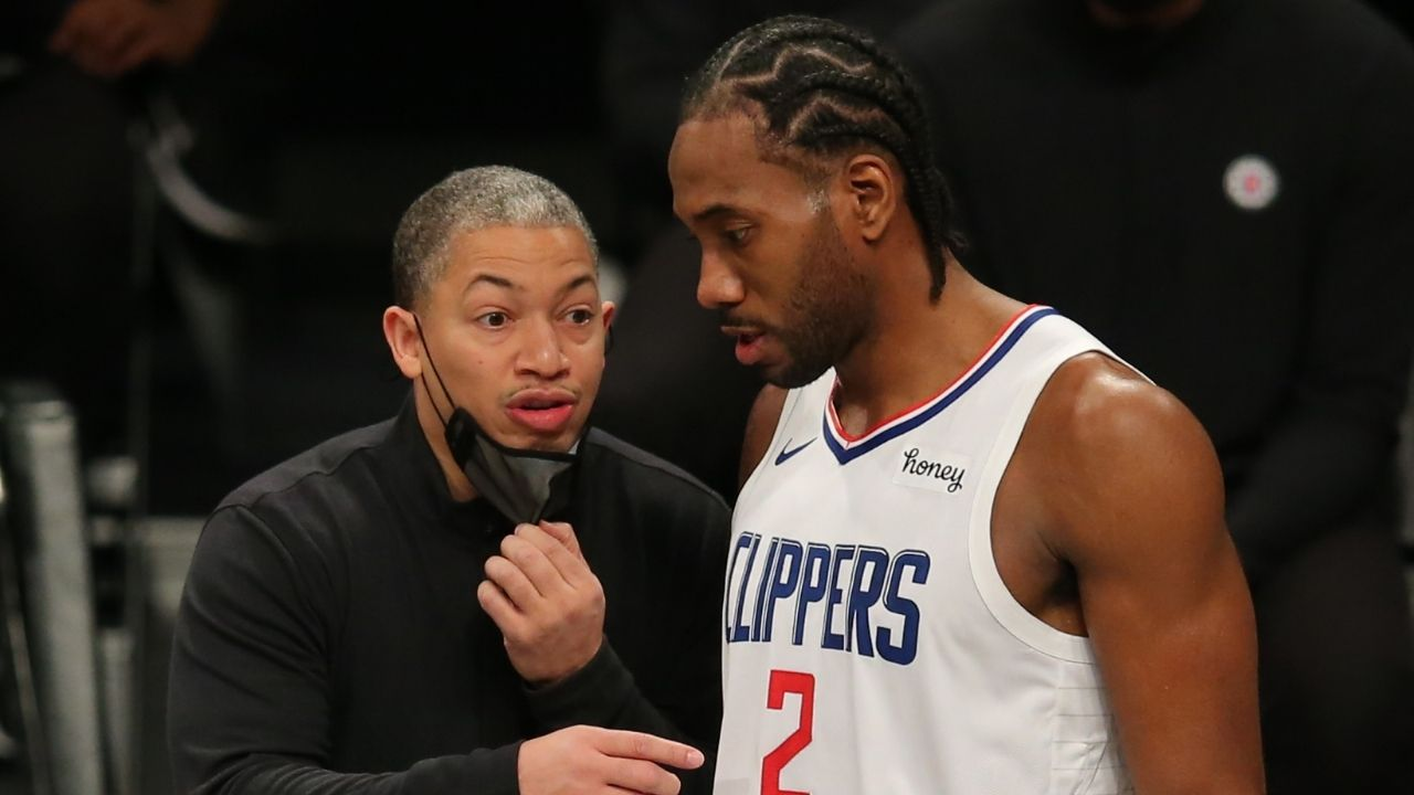 """Harden had his arm before Kawhi pushed off"": Kawhi Leonard, Head Coach Tyronn Lue react to James Harden's flop that cost the Clippers the game"