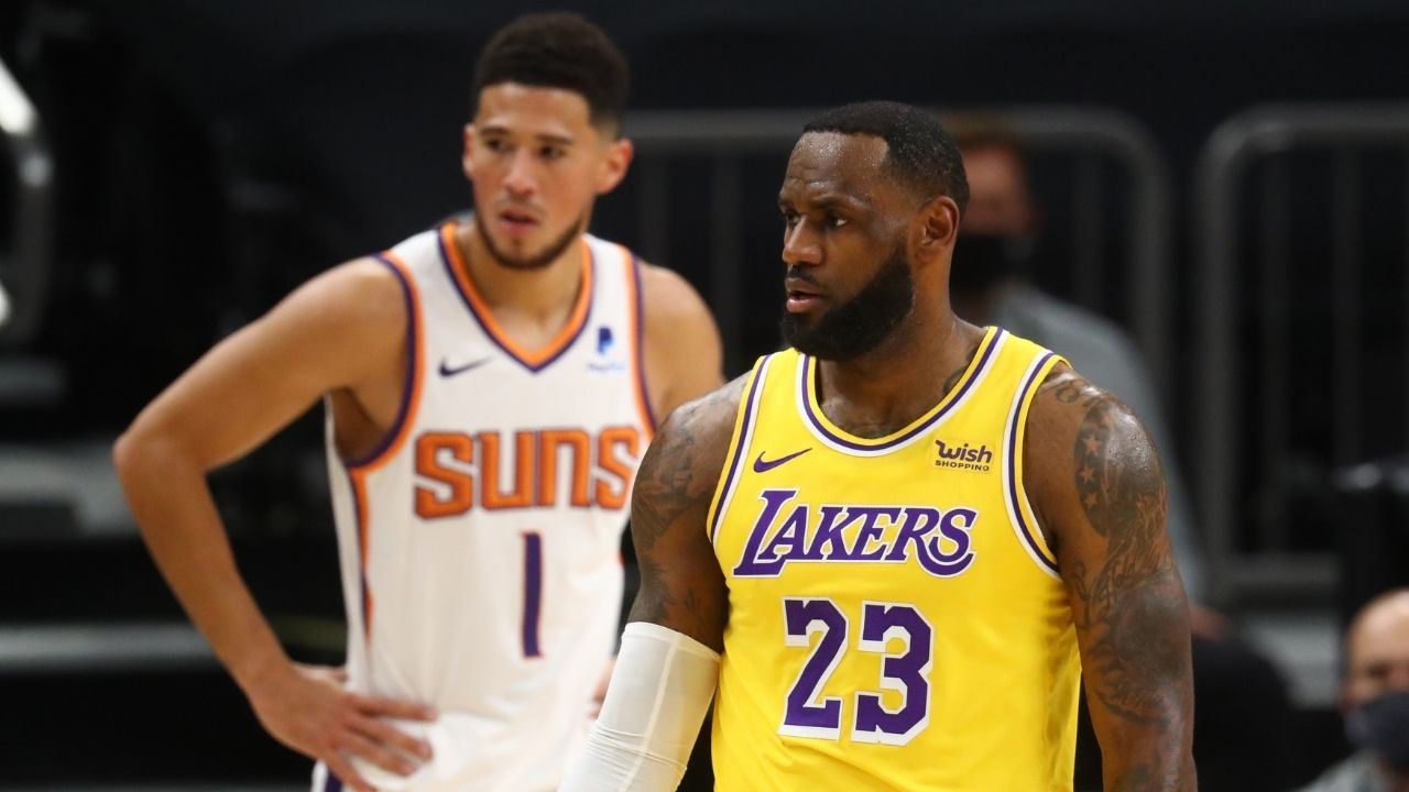 """Devin Booker is the most disrespected player in the league"": LeBron James reacts to Suns star being snubbed from the All-Star team"