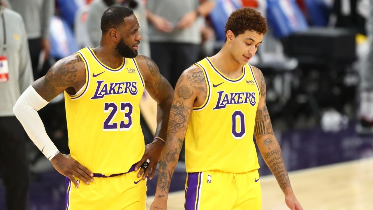 """""""LeBron James went against his word and left Kyle Kuzma on the ground"""": Lakers MVP ridiculed for not helping Kuzma get back to his feet in loss to Russell Westbrook's Wizards"""