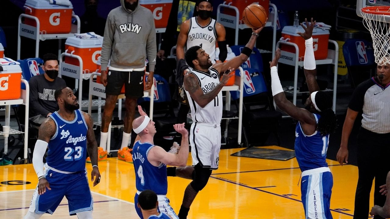 """""""Kyrie Irving is playing better than I've seen before"""": Kenny Smith heaps praise on Nets guard, calling his season with the Brooklyn Nets the best he's ever had"""