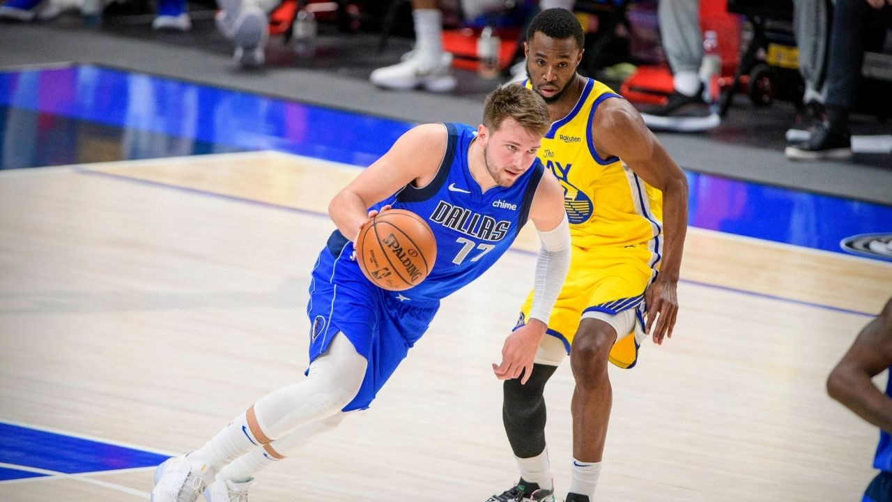 """I don't fault the officials, I fault the league"": Steve Kerr talks about the foul Luka Doncic drew over Andrew Wiggins in Warriors' loss to Mavs"