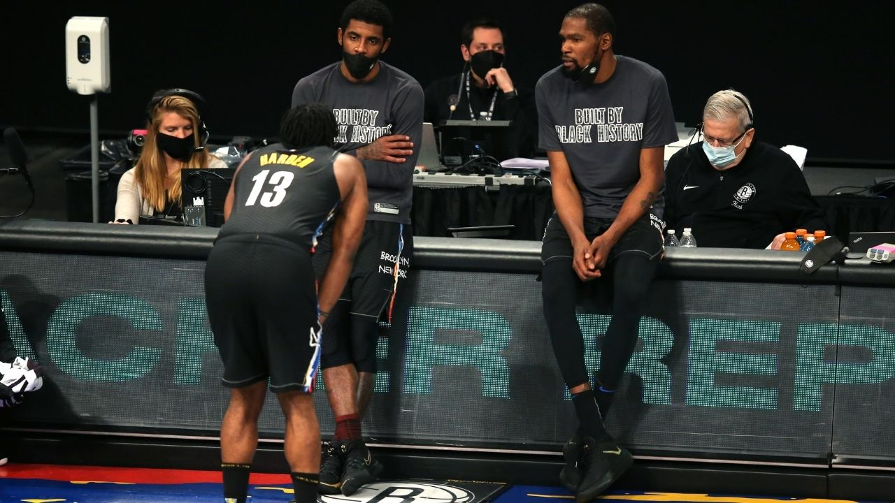 """""""James Harden plays for the worst defense in the NBA, won't make the Finals with Nets"""": Max Kellerman has harsh words for Kyrie Irving, Kevin Durant and co"""