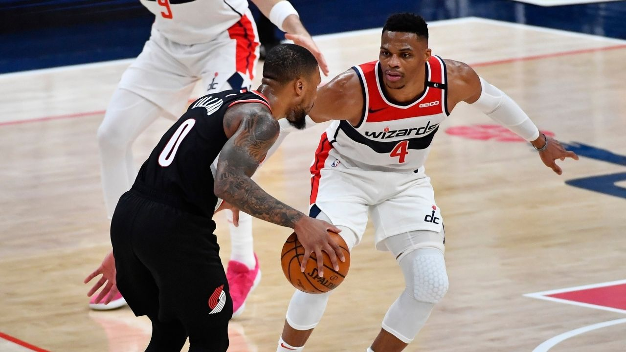 """Damian Lillard is going to take and make tough shots"": Russell Westbrook sings Portland superstar's praise amidst rumors of 'beef' between the two"