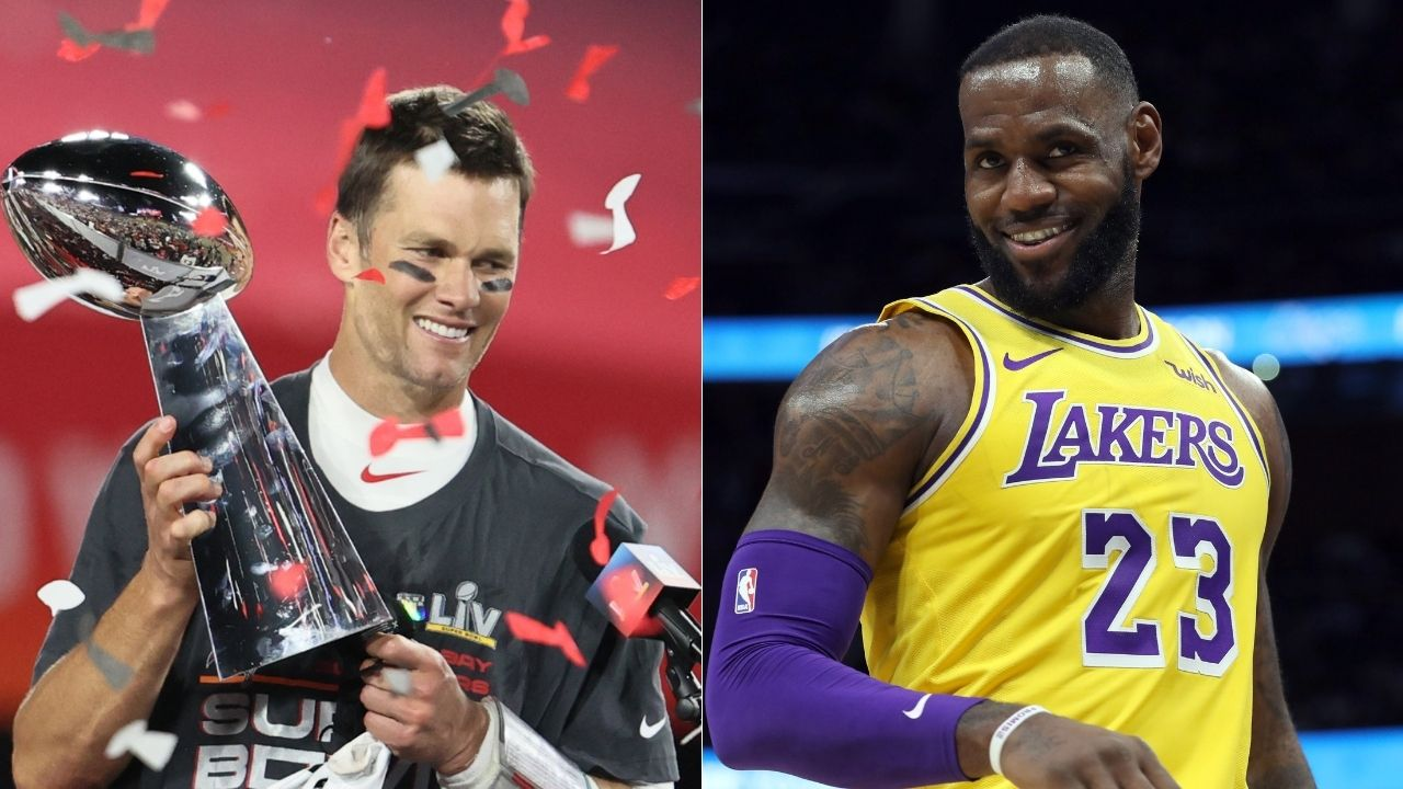 """""""GOAT TALK"""": LeBron James proclaims Tom Brady as the NFL's 'GOAT' after the Tampa Bay Buccaneers' Super Bowl victory over Patrick Mahomes' Kansas City Chiefs"""