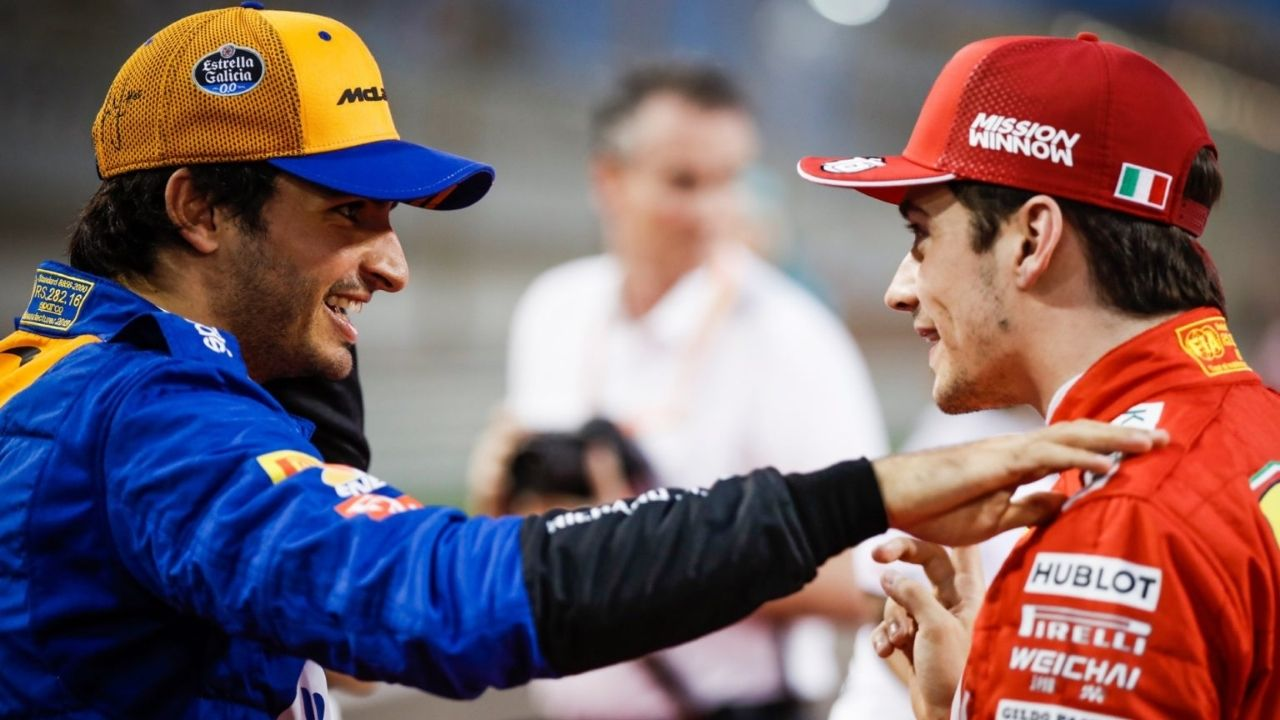 """""""Will be a bit complicated to beat you""""- Carlos Sainz to Charles Leclerc"""