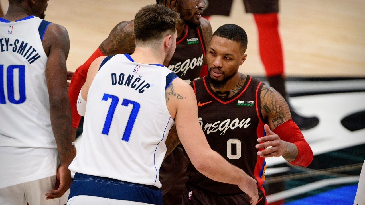 """""""Damian Lillard should've been an All-Star starter over Luka Doncic"""": Lakers legend Shaquille O'Neal says Blazers superstar was more deserving of a starting spot than the Mavericks star"""
