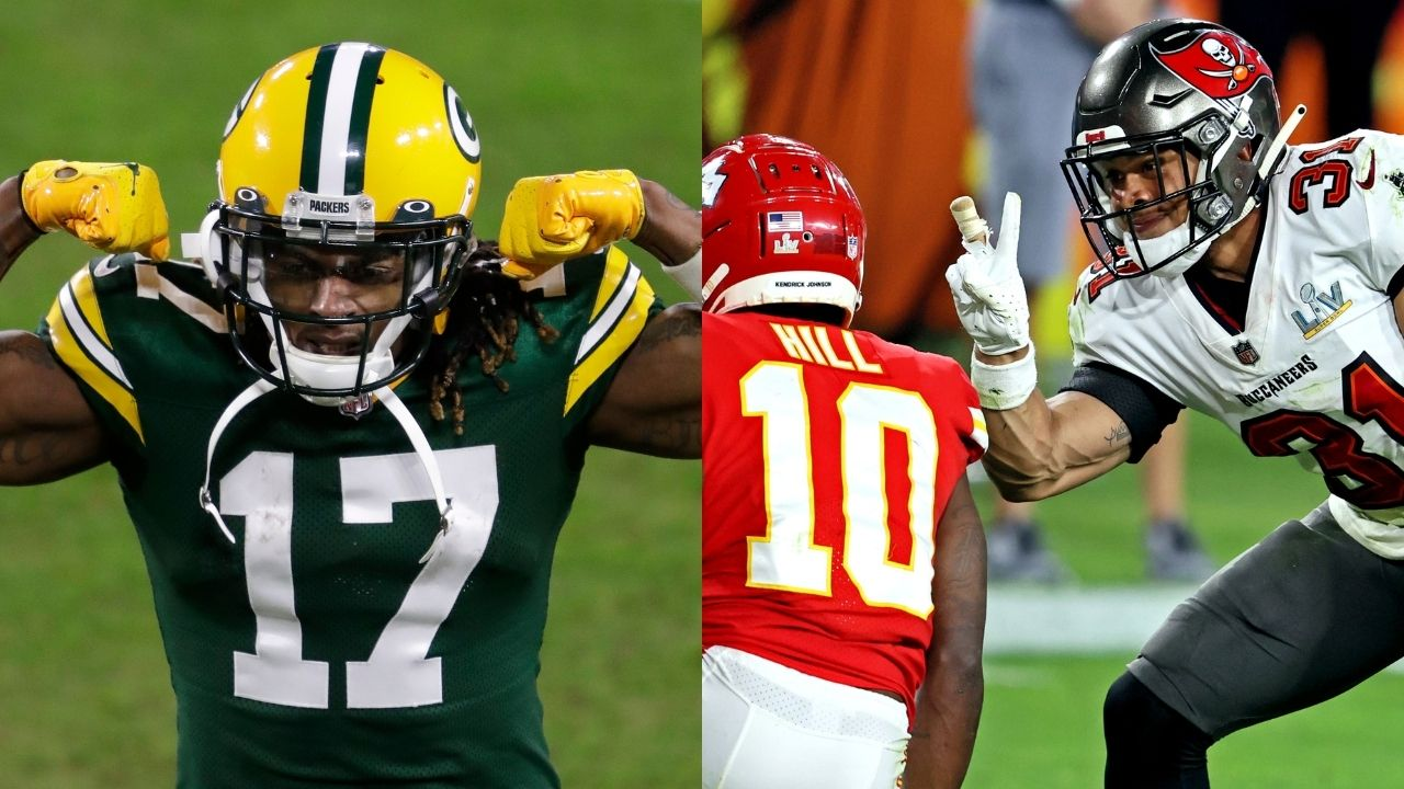 """""""Winfield you lame af"""", Davante Adams calls out Buccaneers' safety Antoine Winfield Jr. for taunting Tyreek Hill in Super Bowl"""