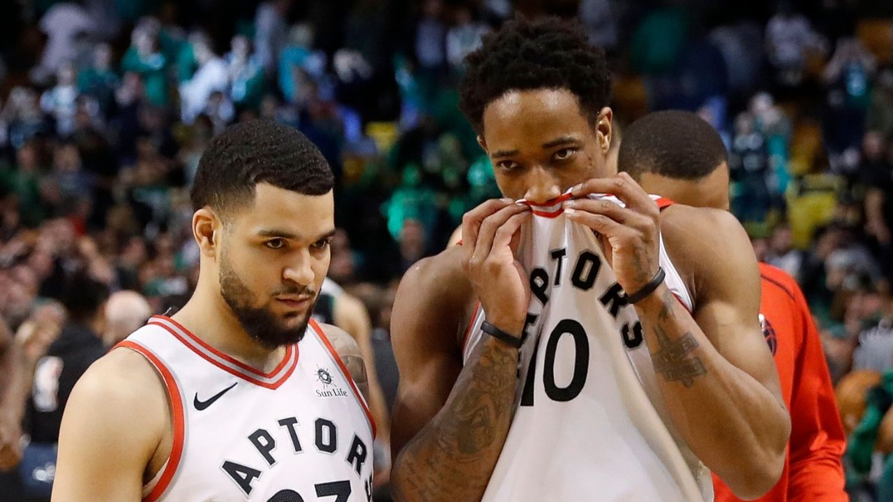 """""""Kyle Lowry's old a** couldn't break my franchise record"""": DeMar DeRozan hilariously congratulates Fred VanVleet on his 54 point night against the Magic"""