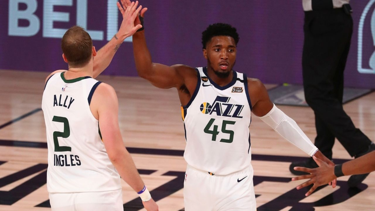"""Donovan Mitchell answers how he handles critics like Shaquille O'Neal as Joe Ingles jokes: """"I only care about my teammates' opinions"""""""