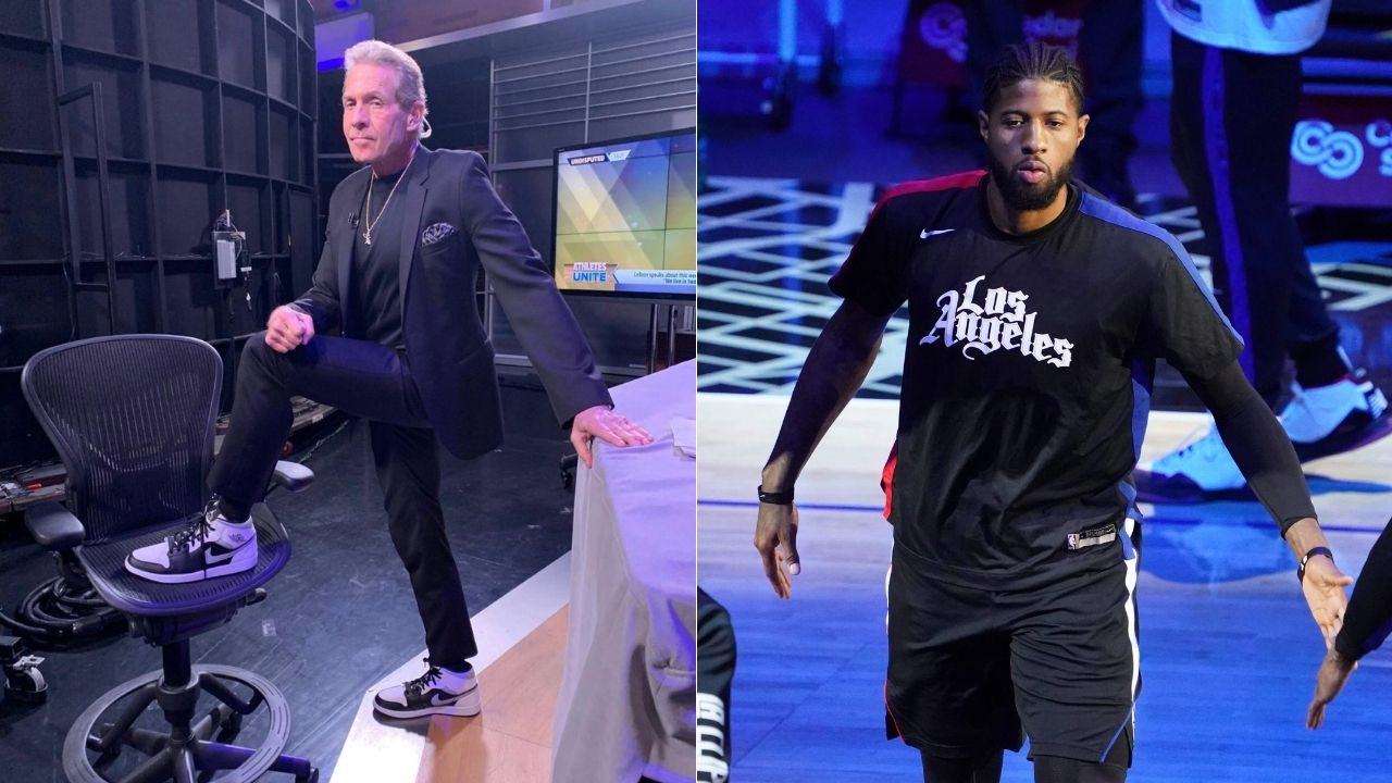 """""""Paul George may have been inspired by Lakers mascot Jared Dudley"""": Skip Bayless hints that Clippers star was indignant to not be considered on LeBron James' level"""