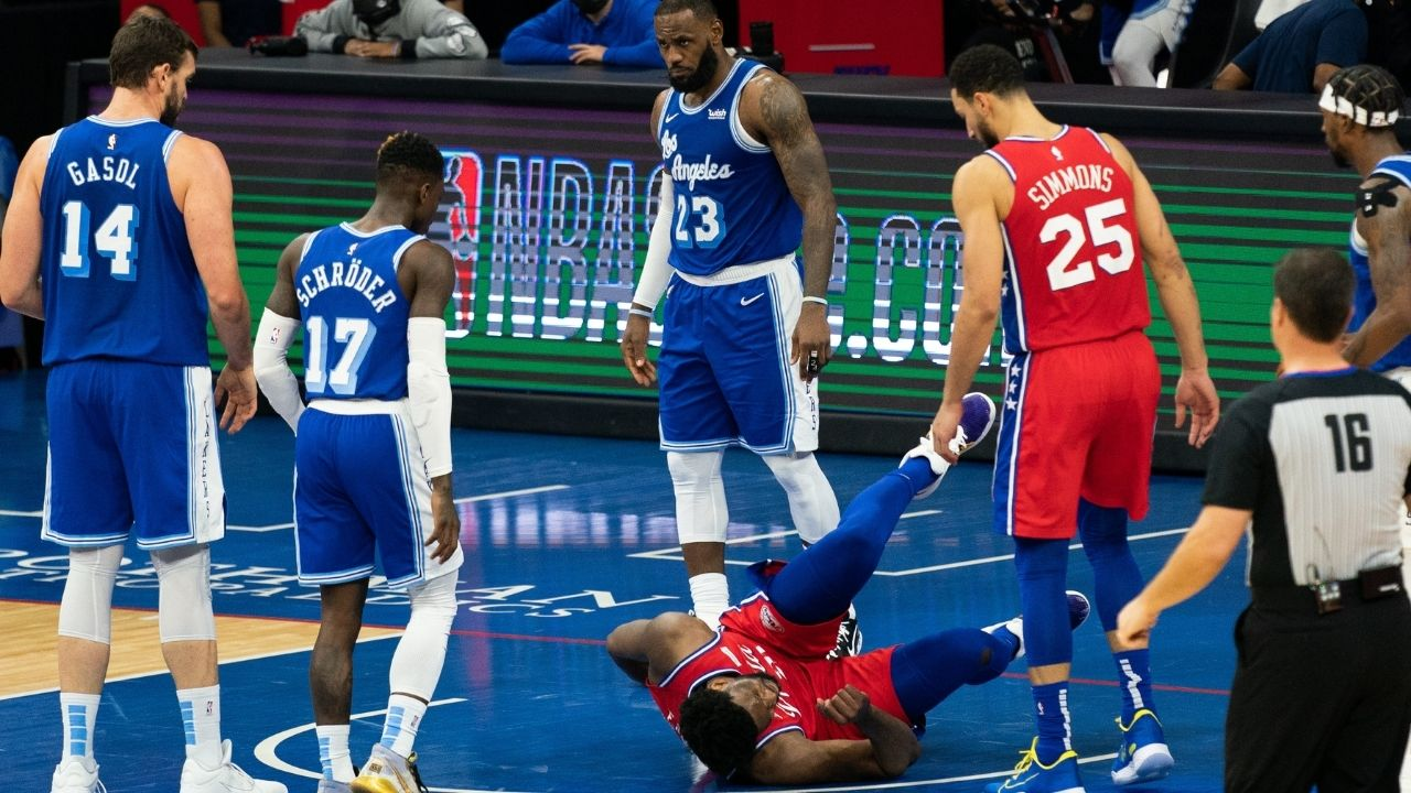 """""""LeBron James sabotaged Joel Embiid for his MVP campaign"""": Sixers' superstar has been suffering intermittent back issues since their win over the Lakers in January"""