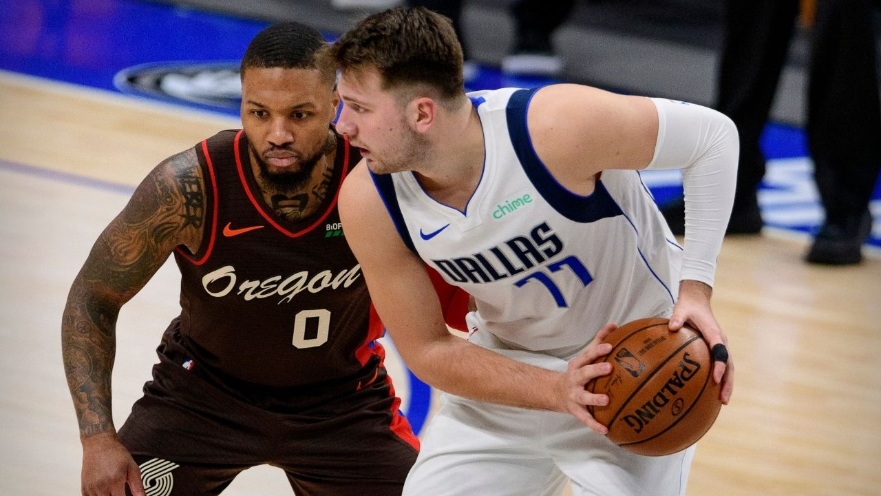 """""""I got a foul for this"""": Damian Lillard is indignant about a phantom foul call on him while guarding Luka Doncic during Blazers' win"""