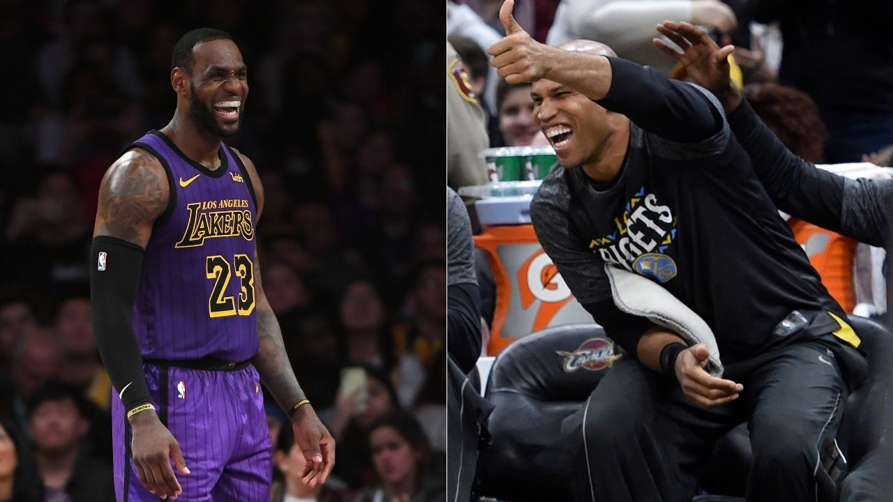 """""""Washed King is starting to catch up with me"""": Richard Jefferson absolutely bodies LeBron James for missing a dunk in the Lakers' win over Ja Morant's Grizzlies last night"""