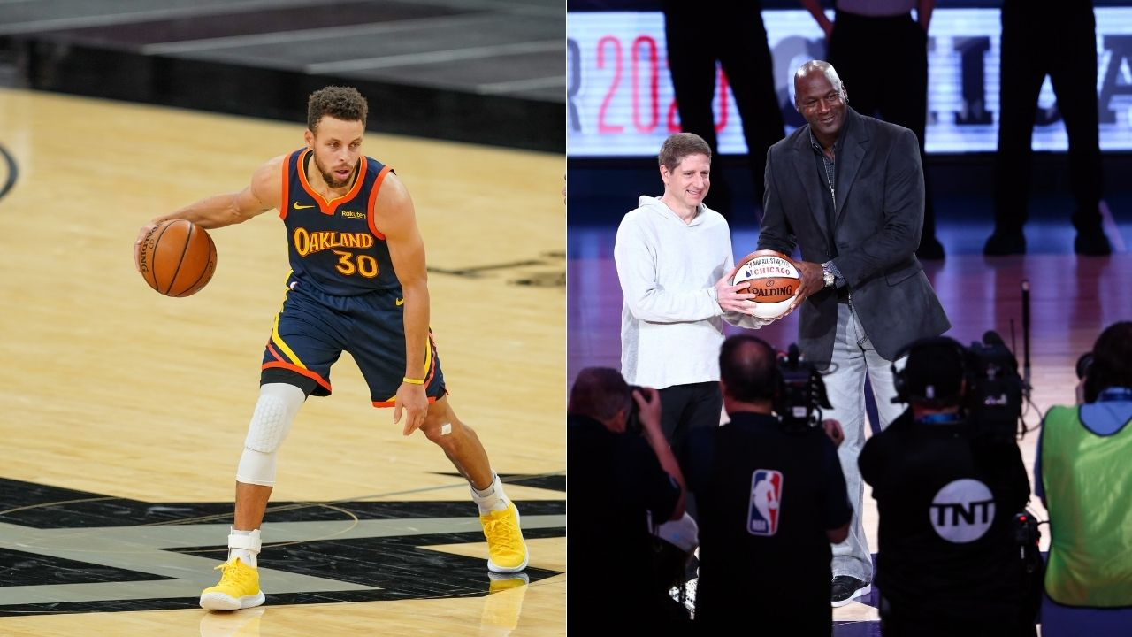 """""""Michael Jordan = Stephen Curry"""": Mind-blowing video of NBA legends shooting eerily similar layups while getting fouled in the air is going viral"""