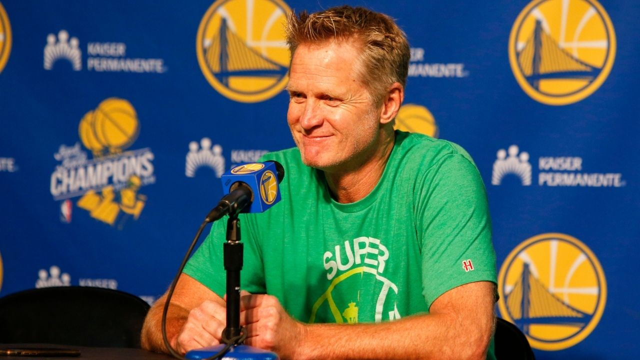 """""""I thank Warriors fans for being so supportive, if a bit delusional"""": Steve Kerr has a hysterical reaction to fans claiming that the league is rigged against the Dubs"""