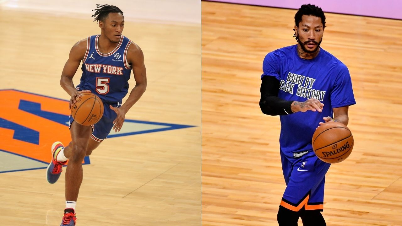 'I'm here if you need anything': Derrick Rose engages in team-building dinner conversation with New York Knicks rookies Immanuel Quickley and Obi Toppin