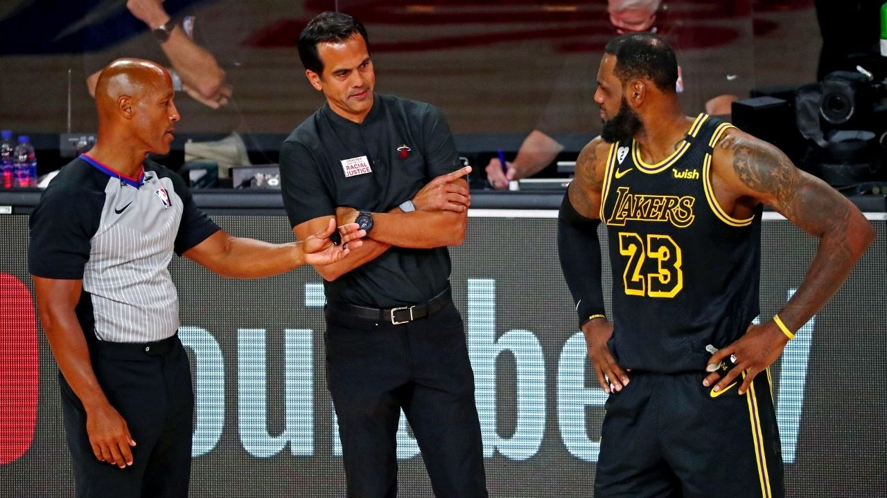 """""""LeBron James was adjusting to the adjustments we made to our adjustments"""": Heat coach Erik Spoelstra on the Lakers star's wily basketball brains in the 2020 NBA Finals"""